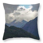 Mountain Peaks Throw Pillow