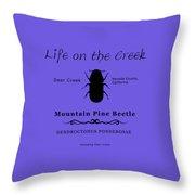 Mountain Pine Beetle Black On White Throw Pillow