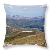 Mountain Range From Mount Evans Summit Throw Pillow