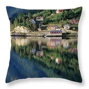 Mountain Reflected In Lake Throw Pillow