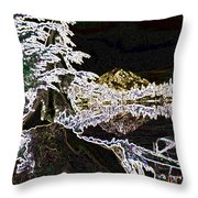 Mountain Reflects Throw Pillow