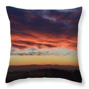 Mountain Road Sunrise 1 Throw Pillow