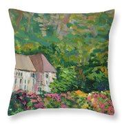Mountain Scenery In Dale, Sandnes Throw Pillow