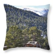 Mountain Scenery Throw Pillow