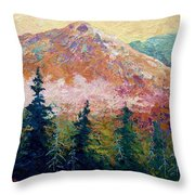 Mountain Sentinel Throw Pillow