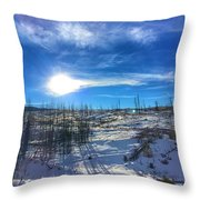 Mountain Shadows Throw Pillow