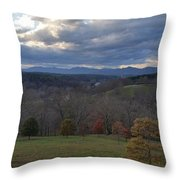 Mountain Skyline Throw Pillow