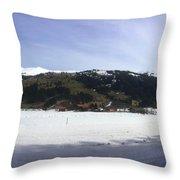 Mountain Snow World Long Throw Pillow