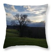 Mountain Sun Throw Pillow