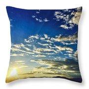 Mountain Sunset 3 Throw Pillow