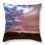 Mountain Sunset In New River Throw Pillow
