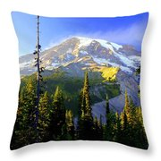 Mountain Sunset Throw Pillow