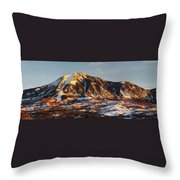 Mountain Sunsets Throw Pillow
