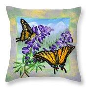 Mountain Swallowtail Throw Pillow