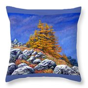 Mountain Tamaracks Throw Pillow