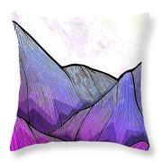 Mountain Texture Throw Pillow