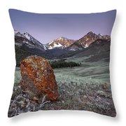Mountain Textures And Light Throw Pillow