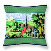 Mountain To Child And Lots Inbetween. Throw Pillow