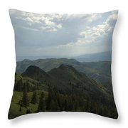 Mountain Top 5 Throw Pillow