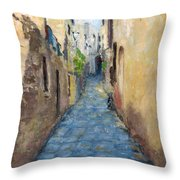 Mountain Town Italy Throw Pillow