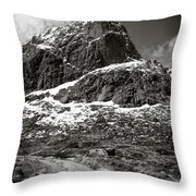 Mountain Track Throw Pillow