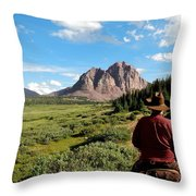 Mountain Trails Throw Pillow