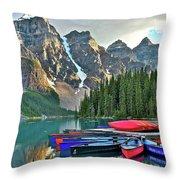 Mountain Tranquility Throw Pillow