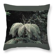 Mountain Tree Throw Pillow