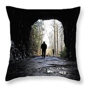Mountain Tunnel Throw Pillow