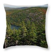 Mountain View, Acadia National Park Throw Pillow