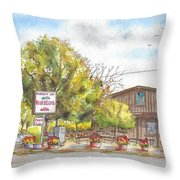 Mountain View Barbeque In Walker, California Throw Pillow