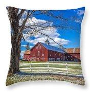 Mountain View Barn Throw Pillow