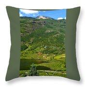 Mountain View In Colorado Throw Pillow