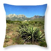 Mountain View Las Cruces Throw Pillow