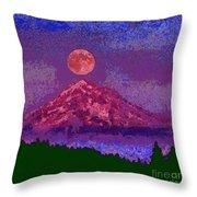 Mountain View Lit Fragmented Throw Pillow
