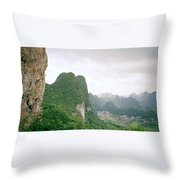China Mountain View Throw Pillow
