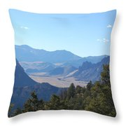 Mountain View On The Chief Joseph Highway Throw Pillow