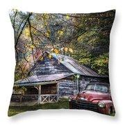 Mountain Vintage Throw Pillow