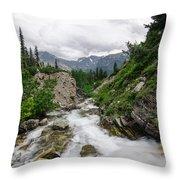 Mountain Vista Throw Pillow by Margaret Pitcher