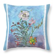 Mountain Wildflowers II Throw Pillow
