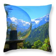 Mountain World 5 Throw Pillow