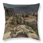 Mountainous Terrain Of Israel Throw Pillow
