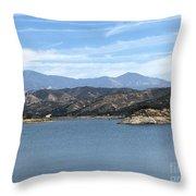Mountainous View Throw Pillow