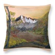 Mountains Afar Throw Pillow