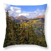 Mountains Aglow Throw Pillow