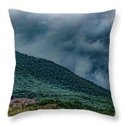 Mountains And Clouds 1350t Throw Pillow