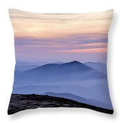Mountains And Mist Throw Pillow