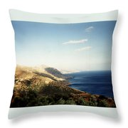 Mountains And Sea Throw Pillow