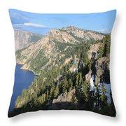 Mountains Around Crater Lake Throw Pillow