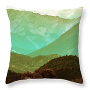 Mountains Throw Pillow